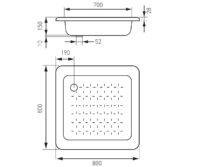 Эмалированный поддон 80х80 см FERRO (FBSS2)