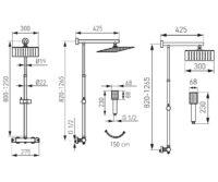 Душевая система с термостатом FERRO TREVI (NP75SQ-TRV7U)