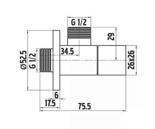 Угловой кран FERRO (Z294)
