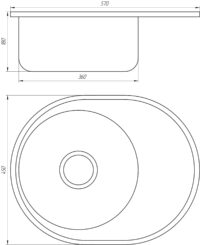 Мойка кухонная Mira MR 5745 D Decor 0.6