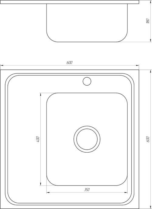 Мойка кухонная Mira MR 6060 R D Decor Right