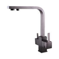 Смеситель для кухни под осмос Globus Lux GLLR-0111-11-GRAPHITE