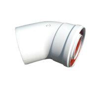 Колено 45 градусов, d=60/100 mm TR.6045F